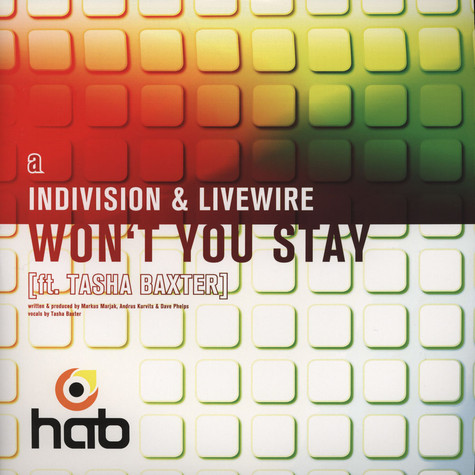 Indivision & Livewire / Subclash - Wont You Stay Feat. Tasha Baxter / Sunburst