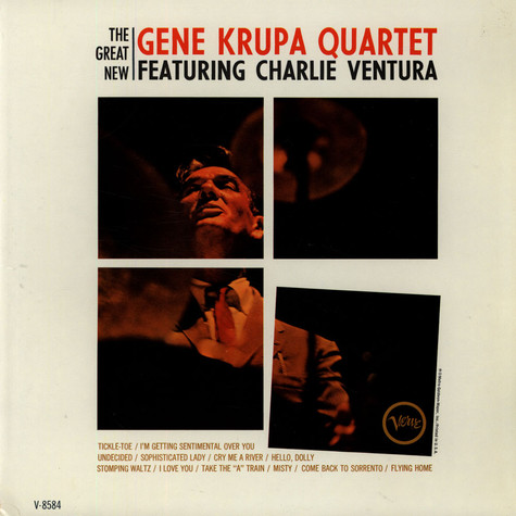 Gene Krupa Quartet - The Great New Gene Krupa Quartet Featuring Charlie Ventura