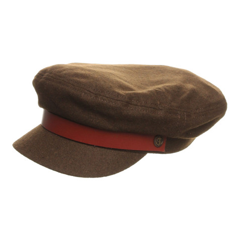 06330088a5056 Brixton - Fiddler Captain s Hat (Olive   Brown Leather Band)