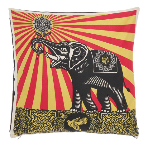 Obey - Peace Elephant Pillow