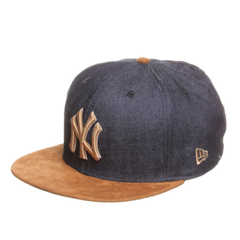 New Era - New York Yankees Denim Suede Snapback Cap