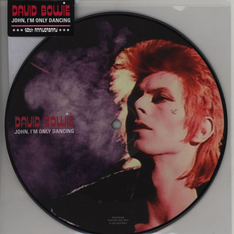 """David Bowie - John, I'm Only Dancing 40th Anniversary 7"""" Picture Disc"""