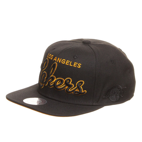 Mitchell & Ness - Los Angeles Lakers NBA Blacked Out Script Snapback Cap