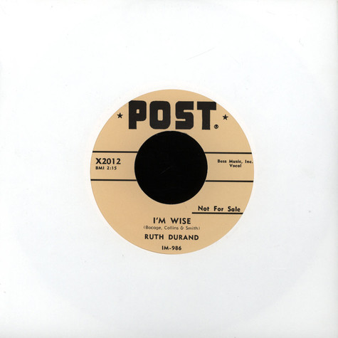 Ruth Durand - I'm Wise/ Tin Can Alley