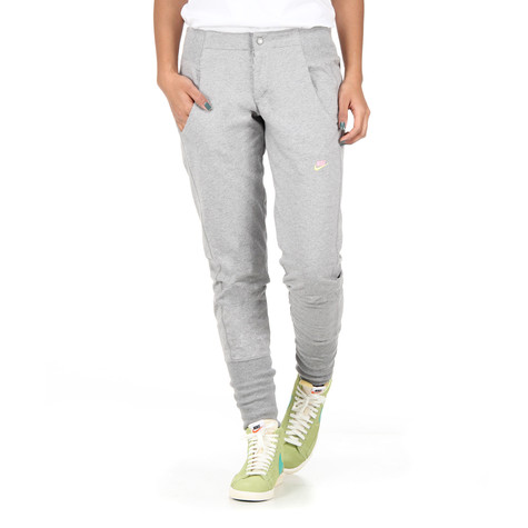 4c343b896400 Nike - Street Women Pants (Dark Grey Heather   Electric Yellow)