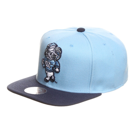 Mitchell & Ness - North Carolina Tar Heels NCAA XL Logo 2 Tone Snapback Cap
