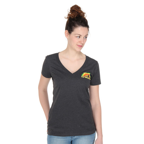 Odd Future (OFWGKTA) - Girls Rainbow Cat V-Neck T-Shirt