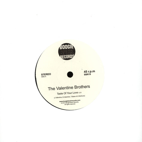 Valentine Brothers, The - Taste Of Your Love / Don't Break My Heart