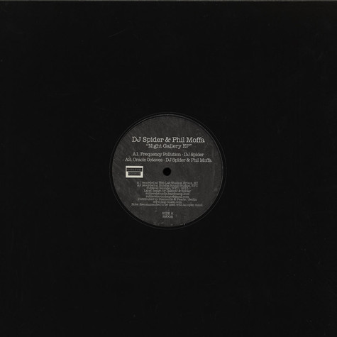 DJ Spider & Phil Moffa - Night Gallery EP