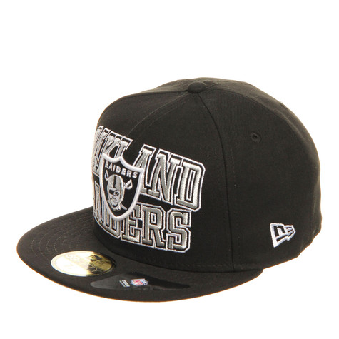 c849a90c5 New Era - Oakland Raiders NFL Logo Stack On 59fifty Cap (Black)
