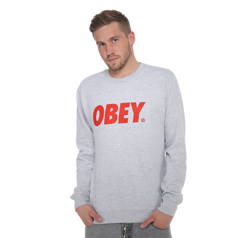 Obey - Obey Font Crewneck Sweater
