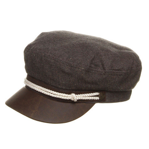 b88a20b8370ee Brixton - Fiddler Captain s Hat (Black Chambray)