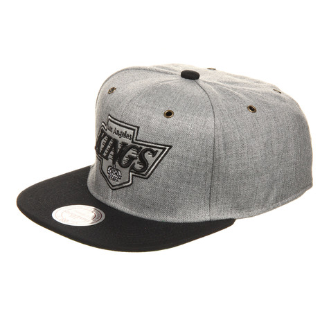Mitchell & Ness - Los Angeles Kings NHL Vintage Heather Grey Wool Strapback Cap