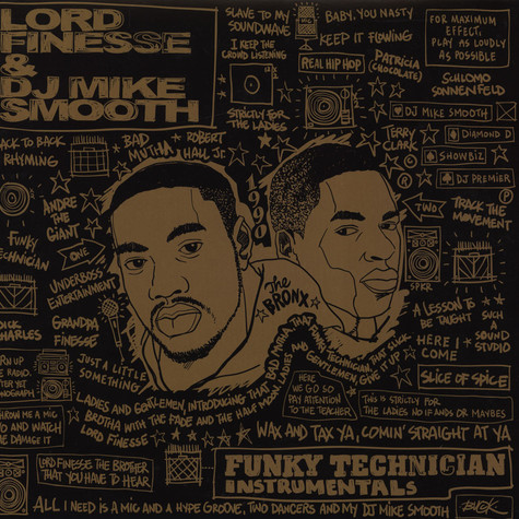 Lord Finesse & DJ Mike Smooth - Funky Technician Instrumentals Gold Vinyl Edition