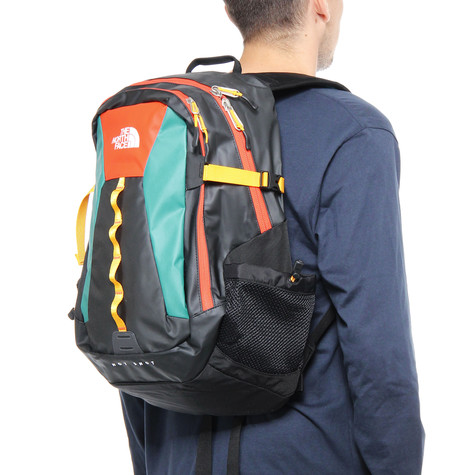 The North Face. Base Camp Hot Shot Backpack (Tnf Black   Spicy Orange) 4f1d925aa3dc3