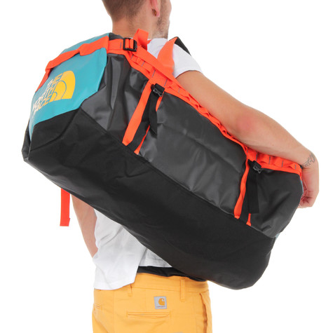 The North Face - Base Camp Duffel Bag L (Tnf Black   Spicy Orange)  66bba5eafff3f