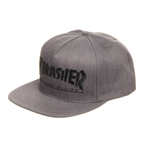 b1e2d8fda26 HUF x Thrasher - Snapback Cap (Grey Heather)