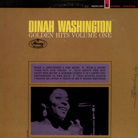 Dinah Washington - Golden Hits Volume One