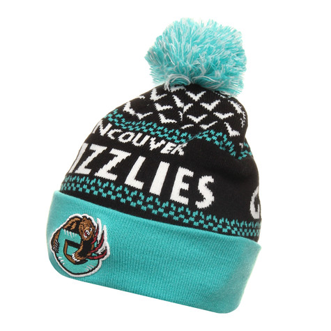Mitchell & Ness - Vancouver Grizzlies NBA Nujacq Cuffed Knit Beanie