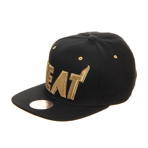 Mitchell & Ness - Miami Heat NBA Snapback Cap (Black&Gold Pack)