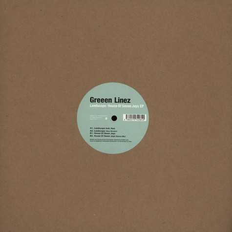 Greeen Linez / Landscape - House Of Seven Joys EP