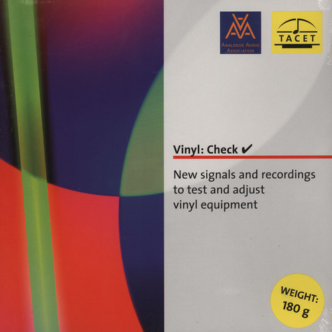 Vinyl - Check - New Signals And Recordings To Test And Adjust Vinyl Equipment