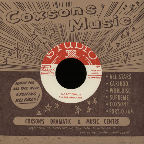 Charlie Organaire / Soul Brothers - Bad Boy Charlie / Thunderball