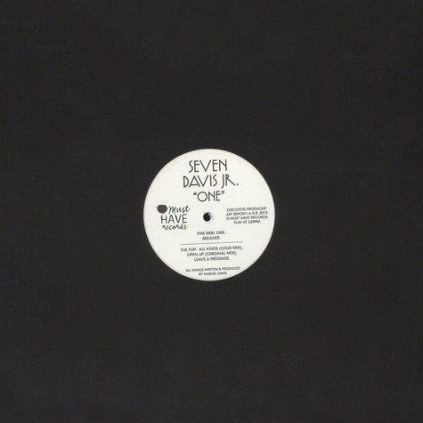 Seven Davis Jr. - One (White Edition Vinyl)