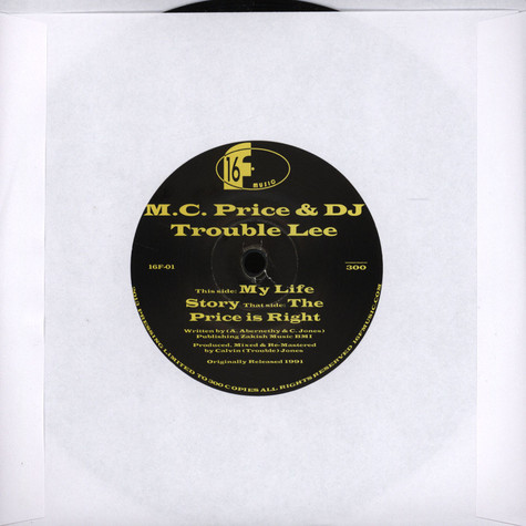 M.C. Price & DJ Trouble Lee - My Life Story