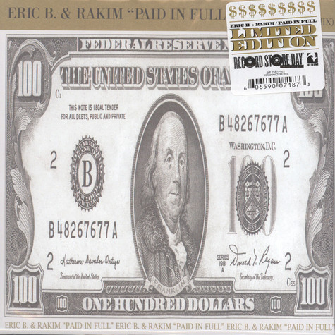 Eric B. & Rakim - Paid In Full (Mini Madness: The Cold Cut Remix) / Eric B. Is On The Cut