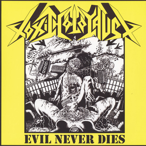 Toxic Holocaust - Evil Never Dies Yellow / Black Vinyl Edition