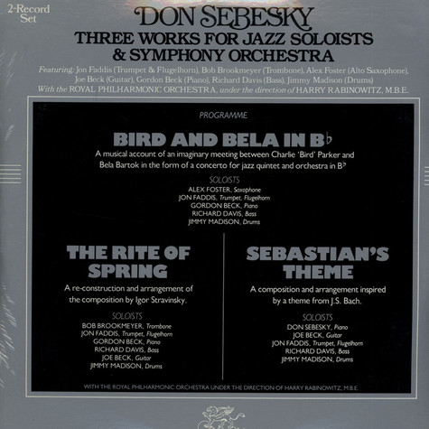 Don Sebesky - Three Works For Jazz Soloists & Symphony Orchestra