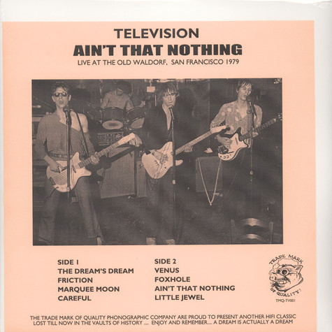 Television - Ain't That Nothing