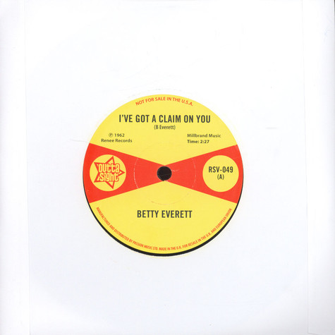 Betty Everett / Juanita Nixon - I`ve Got A Claim On You / Stop Knockin