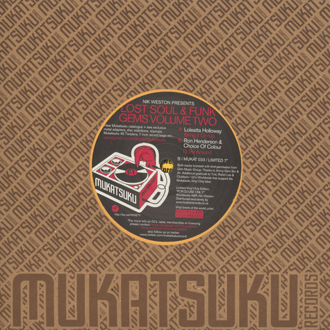 Loleatta Holloway / Ron Henderson And Choice Of Colour - Lost Soul & Funk Gems Volume 2
