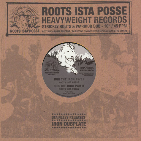Roots Ista Posse - Dub The Iron Part I & II