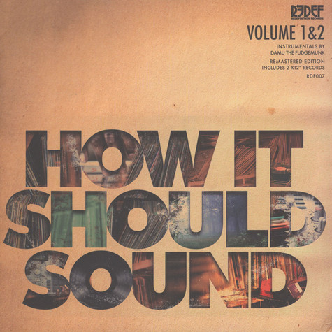 Damu The Fudgemunk - How It Should Sound Volume 1 & 2 (Damaged Sleeve)