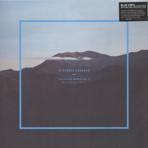 M. Geddes Gengras - Collected Works Volume 2 - New Process Music Blue Vinyl Edition