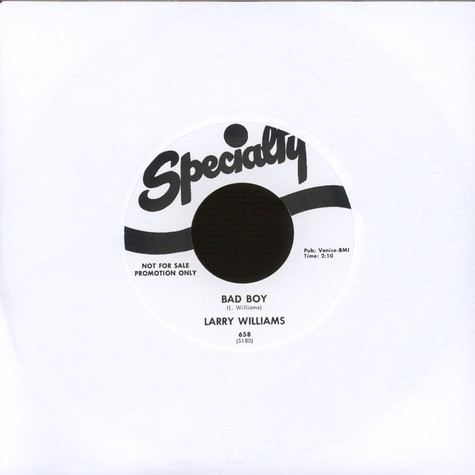 Larry Williams - Bad Boy / She Said Yeah