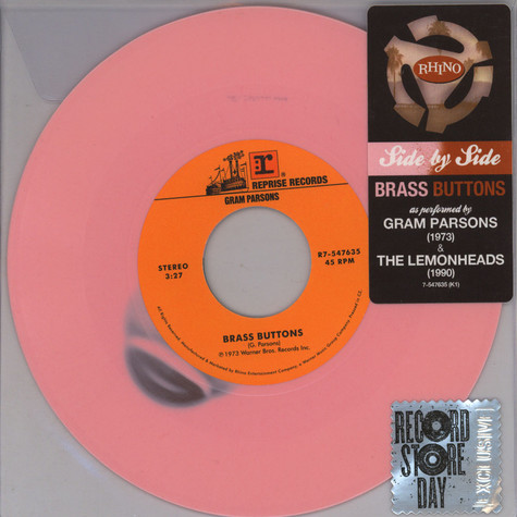 Gram Parsons / Lemonheads - Side By Side: Brass Buttons