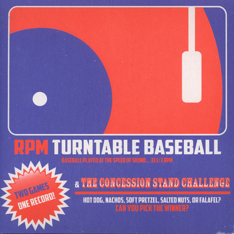RPM Turntable Baseball - Two Games, One Record (A Two-Player Game Played at 33 1/3 RPM)