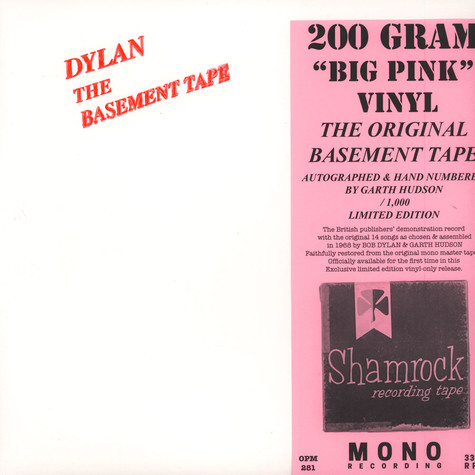 Bob Dylan - The Basemenrt Tapes 200g Vinyl Edition