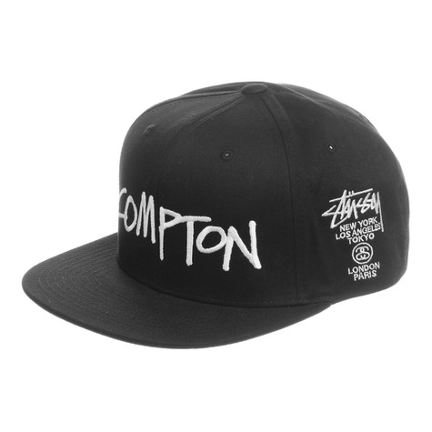 1f5e6f35d63 Stüssy - World Tour Cities Snapback Cap (Black)