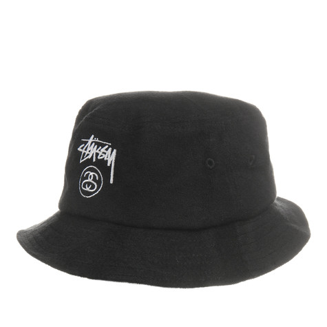 dc6c79cb343 Stüssy - Terry Stock Lock Bucket Hat (Black)