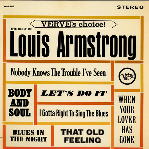 Louis Armstrong - Verve's Choice! The Best Of Louis Armstrong