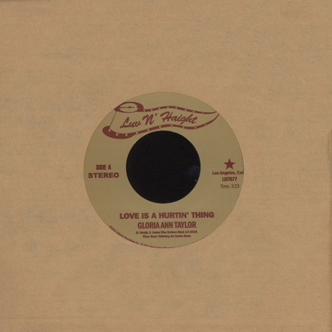 Gloria Ann Taylor - Love Is A Hurtin' Thing / Brother Less Than A Man