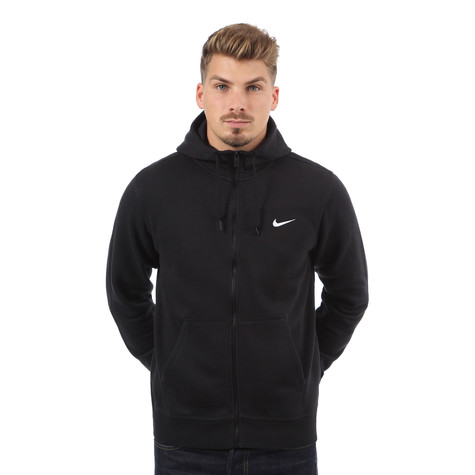62d312622 Nike - Club Swoosh Full-Zip Hoodie (Black / White) | HHV