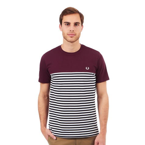 Fred Perry - Pique Stripe Panel T-Shirt