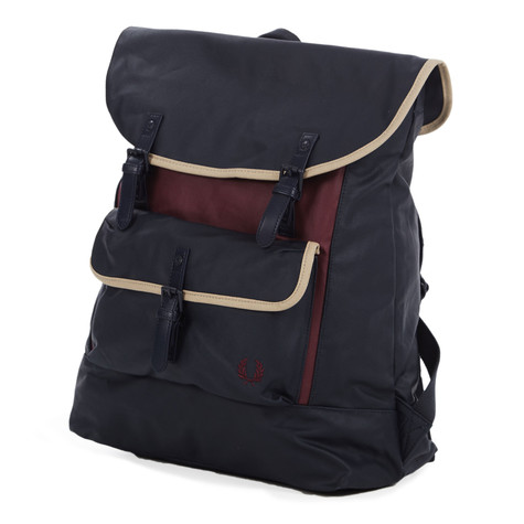 Fred Perry - Coated Canvas Backpack