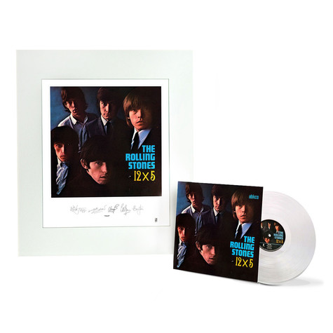 Rolling Stones, The - 12X5 Clear Vinyl with Album Art Lithograph Edition